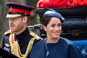 Duchess Meghan's New Diamond Ring From Prince Harry Was an Anniversary Gift