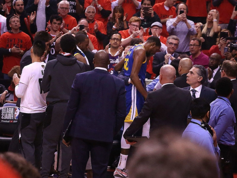 Warriors react to Raptors fans cheering Durant's injury