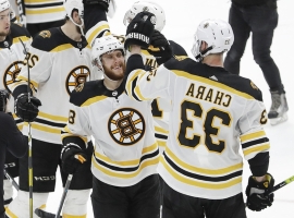 Chara all action, little talk in Stanley Cup pursuit