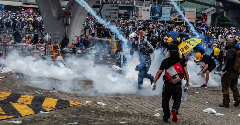 Extradition Protesters in Hong Kong Face Tear Gas and Rubber Bullets