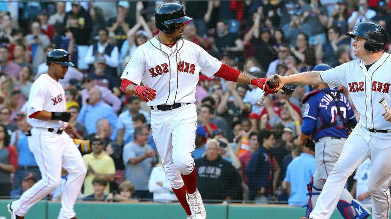 MLB wrap: Red Sox beat Rangers on bases-loaded walk