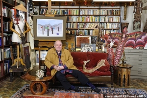Naked Ape author Desmond Morris is selling thousands of his books and curiosities from the 107 countries he's visited as he downsizes - including a 2,000-year-old 'Kardashian' statue