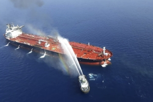 U.S. blames Iran for tanker attacks in Gulf of Oman, oil prices rise