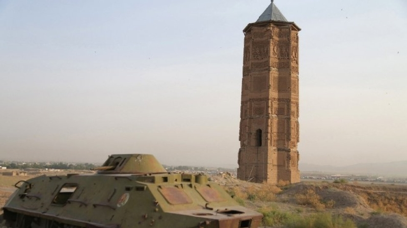 Ancient tower collapses in Afghanistan