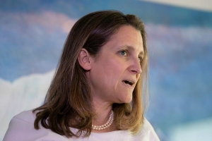 China lashes out at Freeland over response to protests in Hong Kong