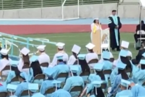 Valedictorian rips school staff in graduation speech
