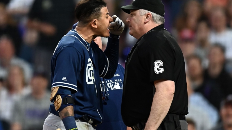 Andy Green and Manny Machado get ejected from Rockies game