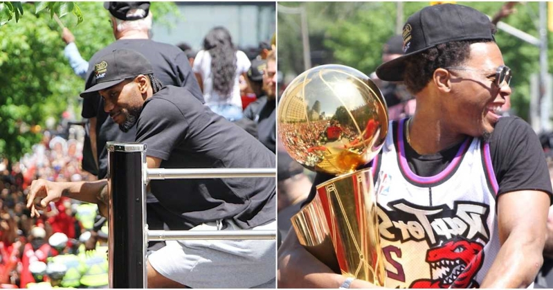 Fans Are Convinced That Kawhi Leonard Will Re-Sign To The Raptors After Today's Victory Parade