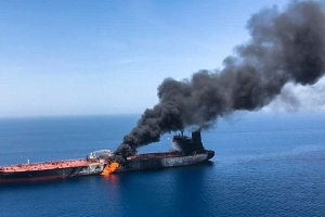 Iran attempted to shoot down US drone over tanker attack site in Gulf of Oman