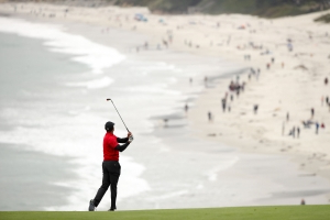 Tiger Woods fought back Sunday and had his best U.S. Open score in 10 years