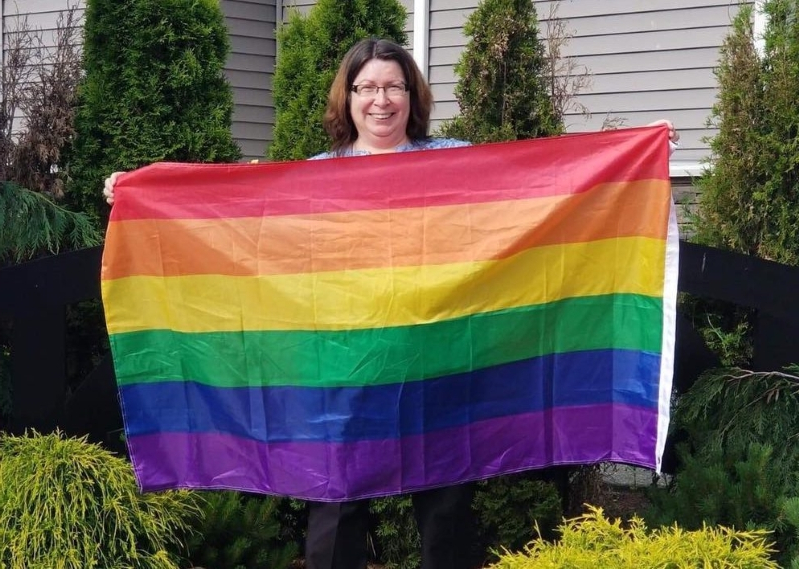 Woman's Pride flag removed by Langley Township over neighbour's complaint