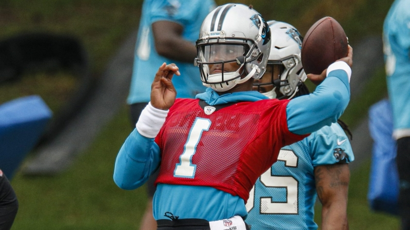 "8ee0ddb35d3 Sport: Ron Rivera: Cam Newton's timing with receivers a ""work in ..."
