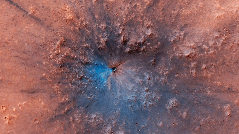 Spectacular New Crater Discovered On Mars