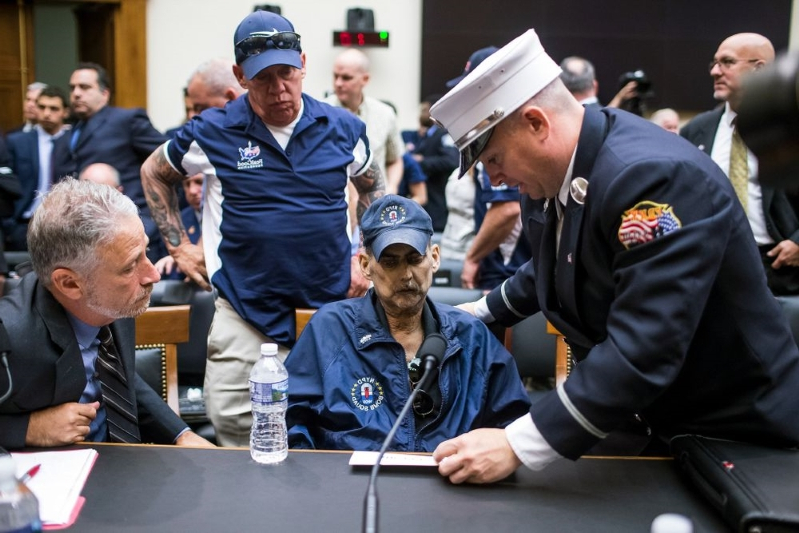 9/11 First Responder Luis Alvarez Has 69th Round of Chemo After Testimony with Jon Stewart