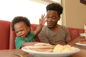 Denny's Filmed An Adorable Commercial With The Dad And Baby Who Went Viral Last Week For Their Conversation