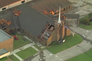 Teens survive possible tornado in Greenville, Texas, by huddling in church