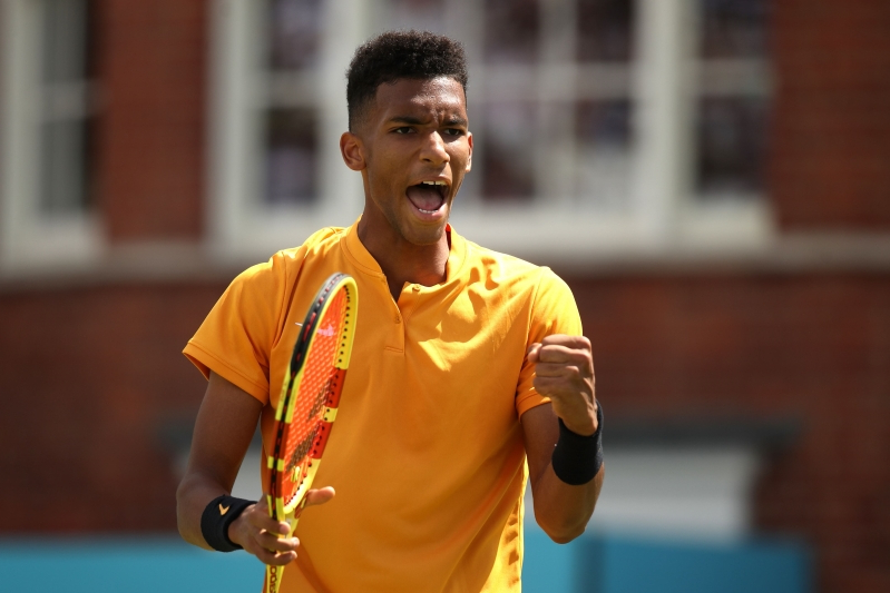 Canada's Felix Auger-Aliassime upsets top-seeded Stefanos Tsitsipas