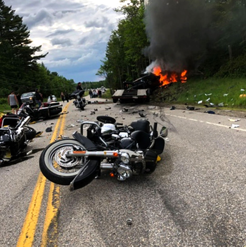 US: 7 dead in crash between truck, motorcycles in New Hampshire