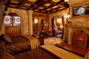 Inside the Cinderella Castle Suite at Disney World