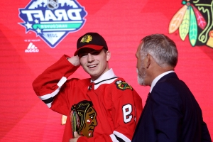 From Edmonton to Saskatoon to Chicago, Blackhawks top pick Kirby Dach never stopped thinking about the sport