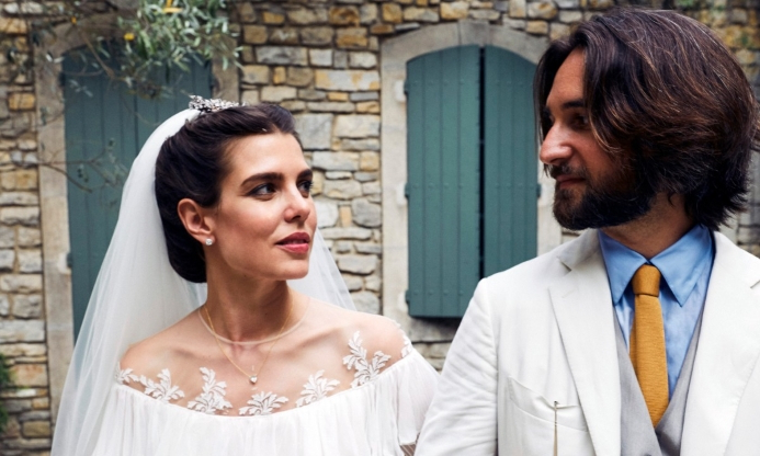 2ac0b2c92 Grace Kelly's granddaughter Charlotte Casiraghi holds second wedding  ceremony - see pics