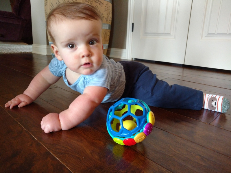 Dad's 'life-changing' invention helps 2-year-old son finally crawl