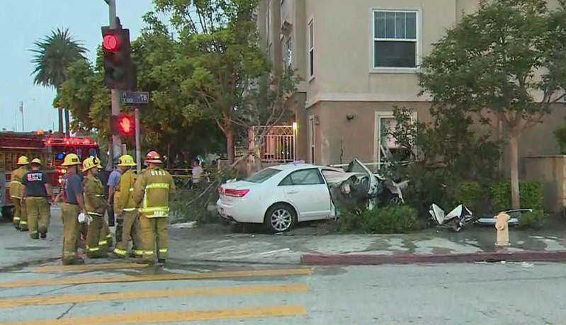 Woman Sleeping In Her Bed Killed After Car Crashes Into South LA Apartment Building