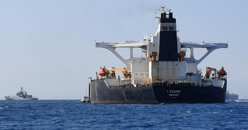 Gibraltar Detains Syria-Bound Tanker Thought to Be Carrying Iranian Oil