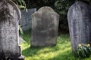 'It's a cemetery, not a playground': Graveyard worker unleashes on a mother for feeding her child near the dead - and some say he's got a point