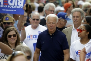 Biden shrugs off heckler calling him by Trump nickname 'Sleepy Joe'