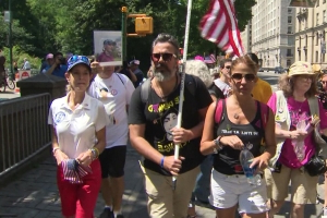 Parkland Parents Demonstrate In Front Of Trump Tower On July 4th