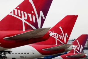 Virgin Atlantic flight makes an emergency landing in Boston after a cabin fire