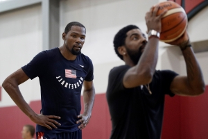 Knicks signee says players knew in February that Kevin Durant and Kyrie Irving were headed to Nets