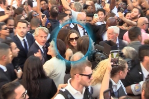 Angelina Jolie Mobbed By Fans During Paris Outing