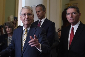 Democrats cast McConnell as villain in bid to win Senate and energize liberals