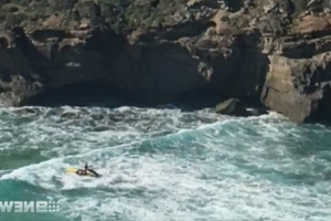 World: Sunbather's wife watched in horror as he was crushed