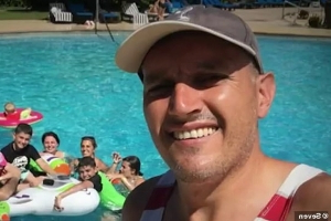 How a tiny cut suffered in a Fiji pool turned a family's dream holiday into a nightmare - as father, 45, fights for life with disease that kills one in four people who get it