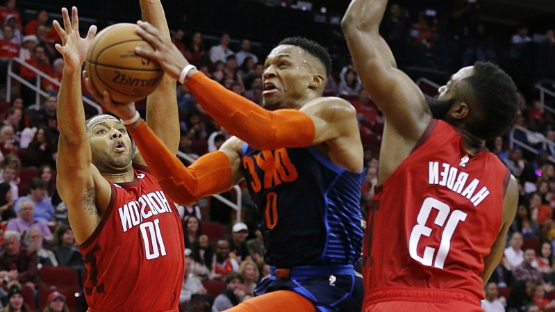 Russell Westbrook trade rumors: Rockets pursuing three-team deal for Thunder guard