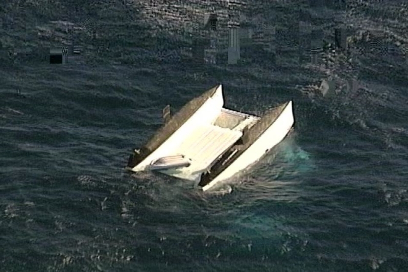 Three dead after catamaran capsizes near Newcastle