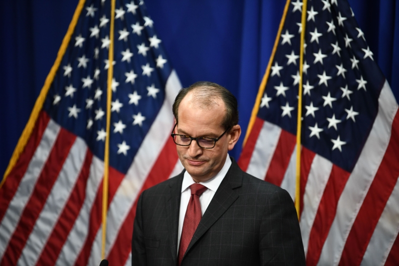 Alex Acosta resigns as labor secretary amid intense scrutiny of his handling of Jeffrey Epstein case