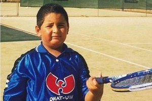 Australian tennis star shares a throwback photo of himself as a kid playing basketball - as he credits sport for his radical transformation