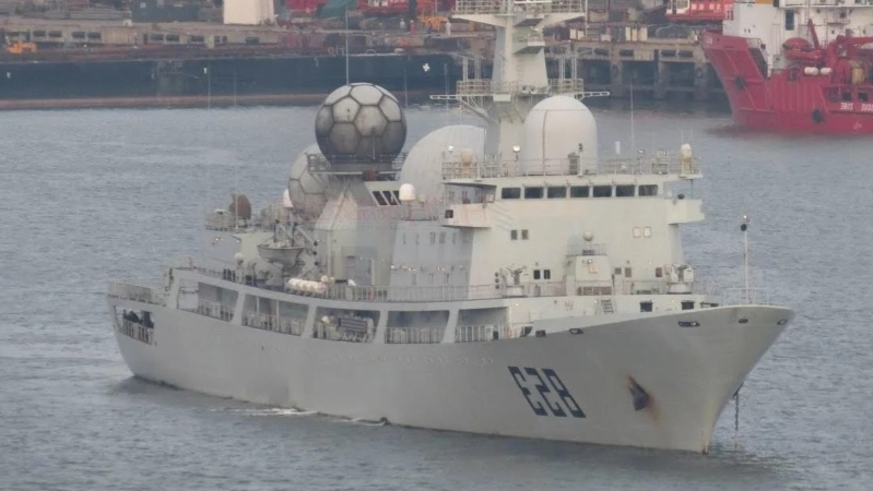 Chinese spy ship staying just outside Australia's territorial waters ahead of Talisman Sabre war games