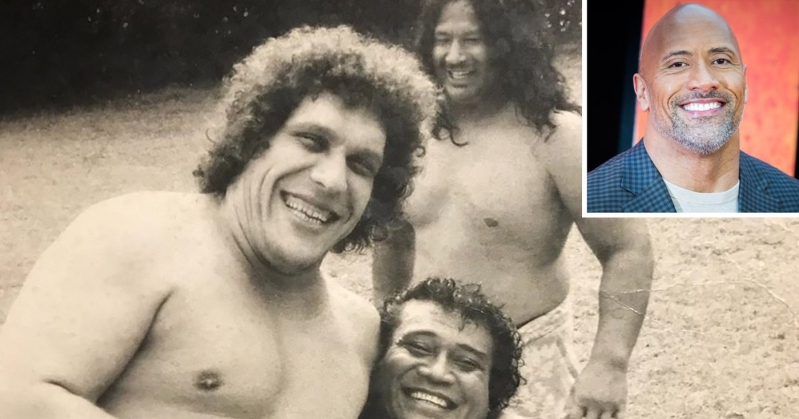Dwayne Johnson Shares 'Crazy Throwback' of His Grandfather and André the Giant: 'Tough as Hell'