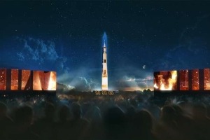 The Washington Monument Is Transforming Into a Full-Scale Saturn V Rocket for the 50th Anniversary of the Apollo 11 Moon Landing