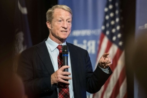 Billionaire Tom Steyer banks on South Carolina in 1st presidential bid stop