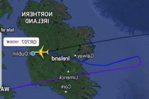Washington-bound flight dumps tonnes of fuel before diverting to Dublin Airport after medical emergency on-board