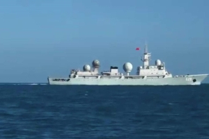 Chinese spy ship reportedly arrives off Queensland coast to monitor war games with the United States