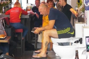 This Man Tried to Set World Record for Sitting on the Toilet