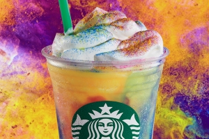 Woah, Here's Exactly How Much Sugar Is in the New Starbucks Tie-Dye Frappuccino