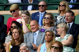 Woody Harrelson turns into a meme at Wimbledon